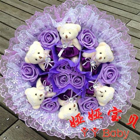Dcb105 Doll Bouquet 11 Bears 1 buy hanada floral doll xiong gongzi bouquet city pet