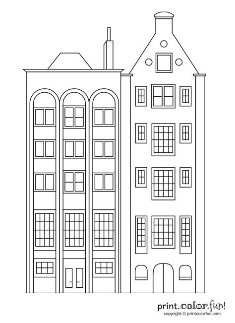 apartment building coloring page stylish apartment buildings coloring page print color fun