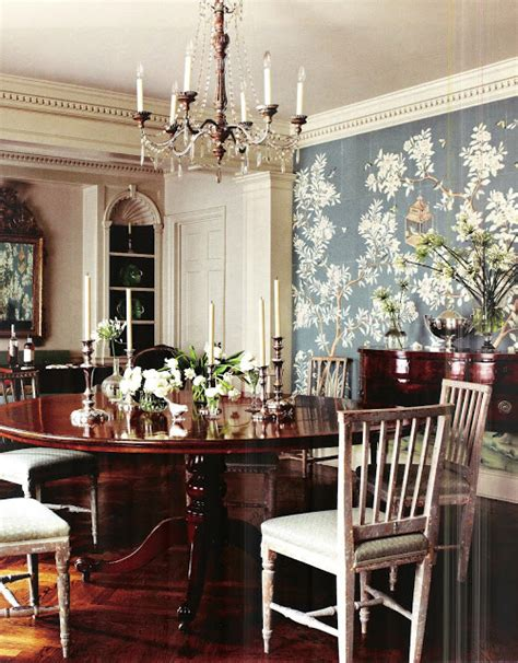wallpaper for dining rooms the glam pad blue de gournay and gracie wallpapered