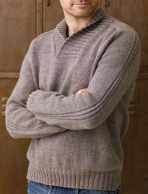 mens shawl collar sweater knitting pattern shawl collar jumper knitting pattern
