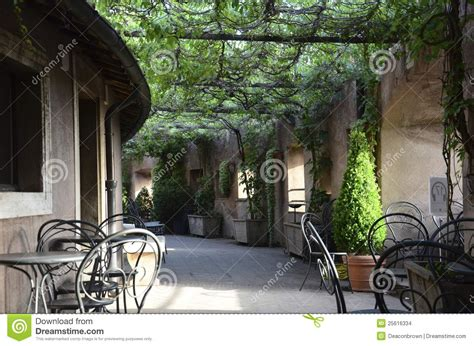 Mediterranean Home Plans italian bistro patio stock images image 25616334