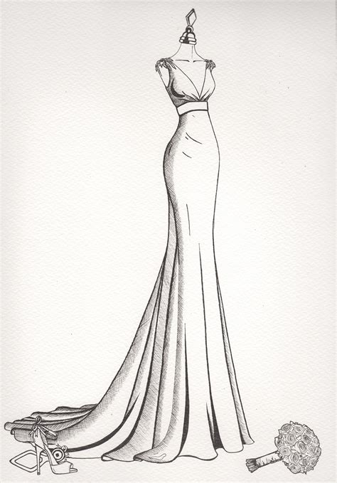wedding dress sketch wedding dress sketch wedding dress ink