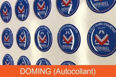 Doming Aufkleber Transparent by Doming Autocollant Pour Vos Objets Publicitaires Ou Votre