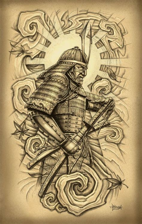 tattoo drawings japanese warrior drawings amazing
