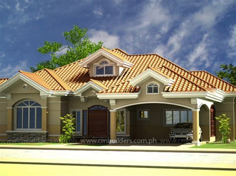mediterranean bungalow house designs houe bungalow style with balcony in philippine small