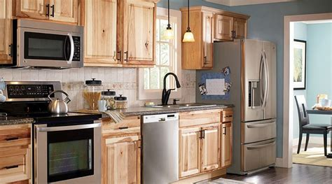 natural hickory kitchen cabinets american classics hton natural hickory kitchen cabinets