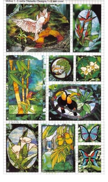Glas Design Vorlagen glas design exoten vorlagen f 252 r die glaskunst