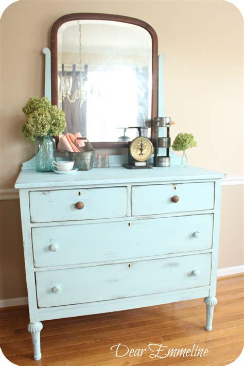 diy antique chalk paint blue dresser another diy chalky paint finish