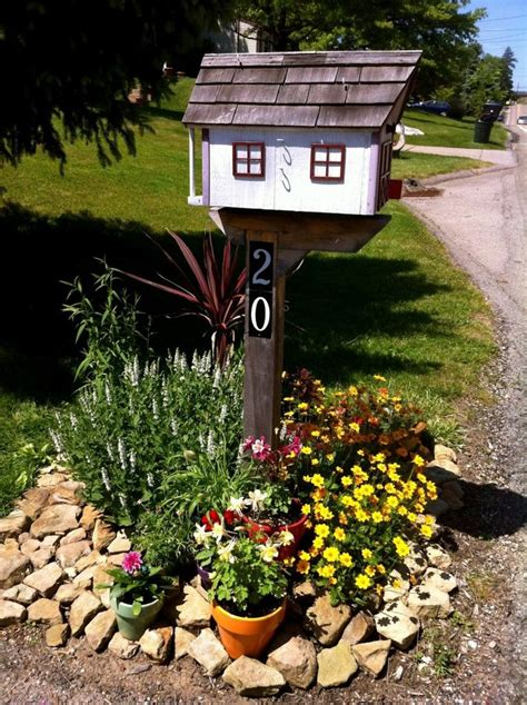 beautiful mailbox landscaping ideas home to be gardens and landscaping
