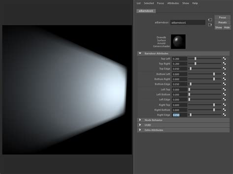 Barn Door Effect Using The Barndoor Light Filter Aibarndoor Arnold For