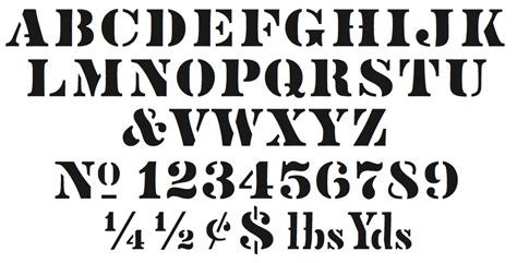 printable army font army lettering font letters font