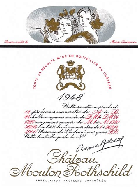 ch 226 teau mouton rothschild the labels room mouton rothschild 1948 marie laurencin