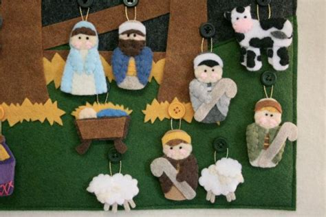 pattern for felt nativity advent calendar nativity advent calendar pattern instant digital