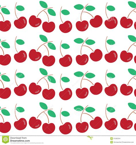 cherry pattern vector art seamless pattern of cherry stock images image 31282334