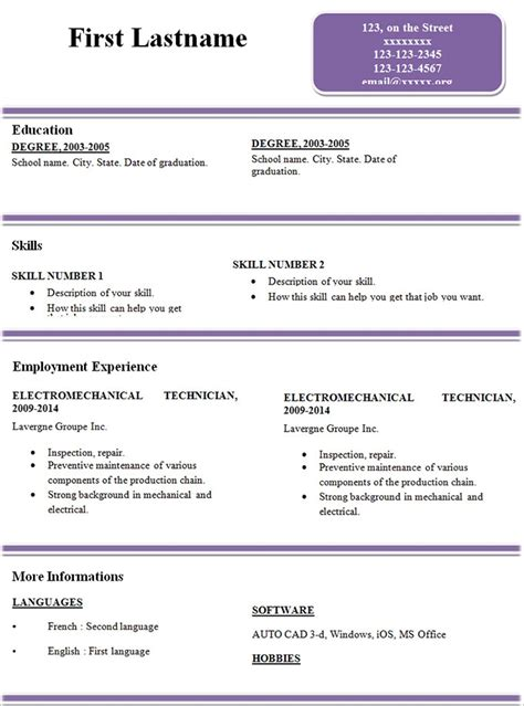 resume template copy and paste resume copy exles of