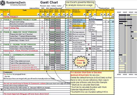project management gantt chart excel template project management calendar template