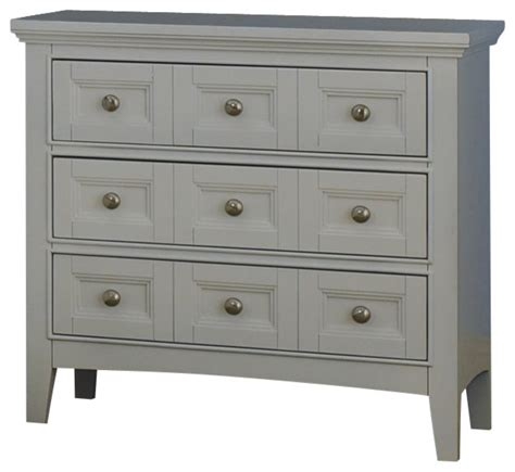 White Nightstand With 3 Drawers by Magnussen Magnussen Kentwood 3 Drawer Nightstand In