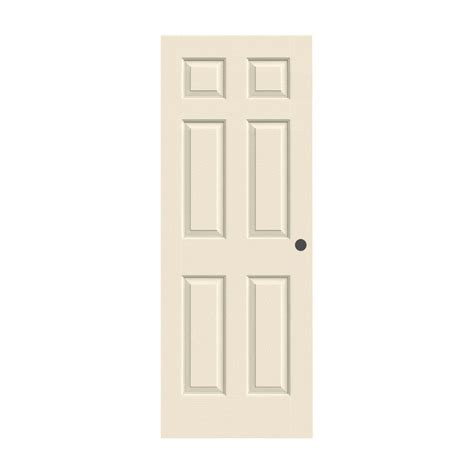 26 Interior Door Home Depot Jeld Wen 26 In X 80 In Woodgrain 6 Panel Primed Molded Bored Interior Door Slab Thdjw136500694