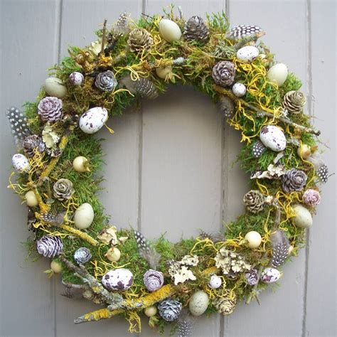 easter wreath spring and easter wreath by pippa designs notonthehighstreet com