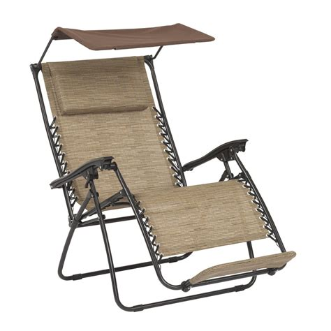 Zero Gravity Patio Chair Shop Garden Treasures Brown Steel Folding Patio Zero Gravity Chair At Lowes