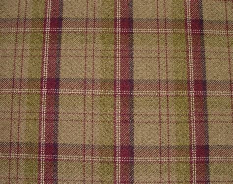 thick curtain fabric argyll heather wool effect washable thick tartan check