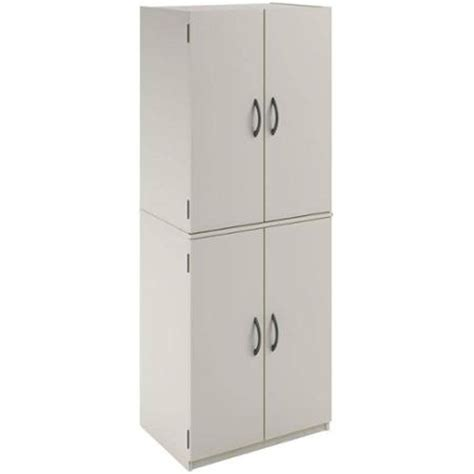 kitchen pantry storage cabinet white 4 door shelves wood