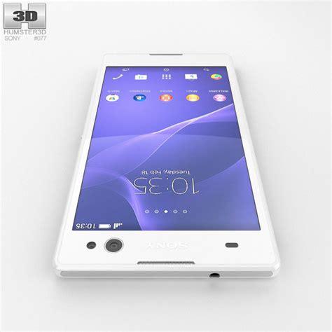 Custom Sony Xperia C3 sony xperia c3 white 3d model humster3d