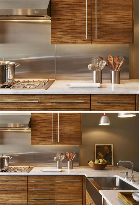 stainless steel kitchen backsplash kitchen design idea install a stainless steel backsplash