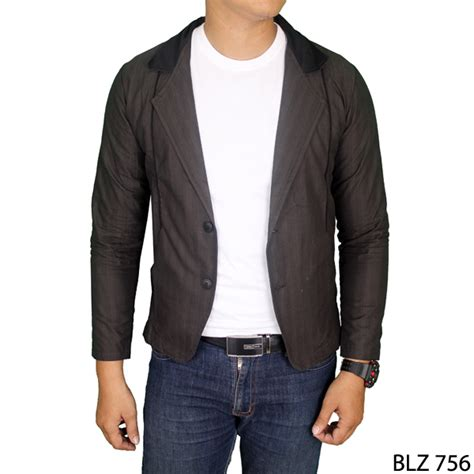 Jaket Jas Blazer Fasionable Hitam jaket jas pria katun hitam blz 756 gudang fashion