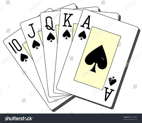 royal flush spades stock vector 76116655 shutterstock