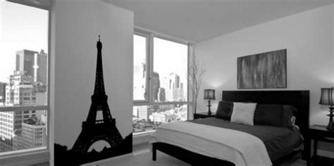 black and white paris bedroom inspiring small black and white room decor feat paris themed wall decals and white