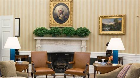 oval office changes president brings winston churchill bust back to the