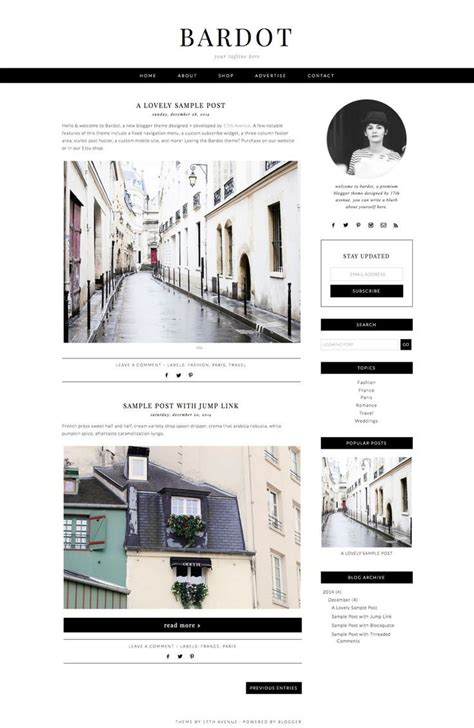 layout design inspiration blog blogger template premade blog design quot bardot quot blogger