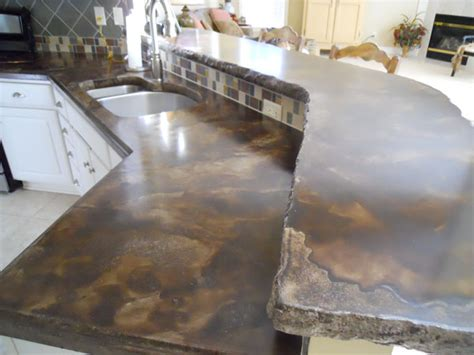 Acid Stain Concrete Countertop by G M Concrete Staining Antiquing