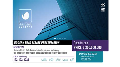 Modern Real Estate Presentation Commercials After Effects Templates F5 Design Com Real Estate After Effects Template