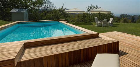 pedana di bosco prezzo piscine fuori terra esterne e rialzate piscine castiglione