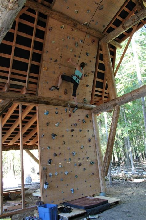 post beam barn climbing wall  ecocentric design
