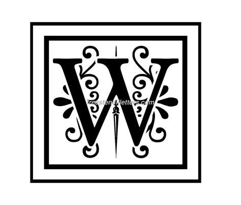 Print W Letter Stencil Free Stencil Letters Monogram Letters Template