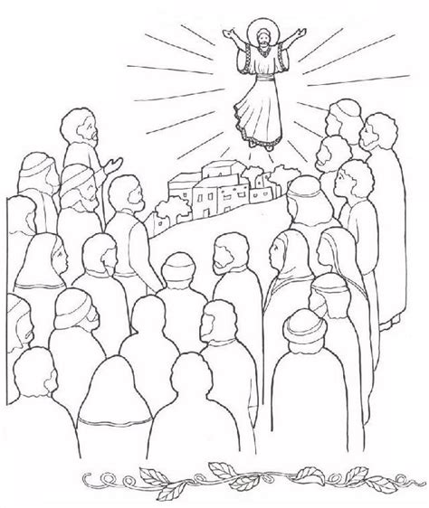 free coloring pages jesus ascension the ascension of jesus