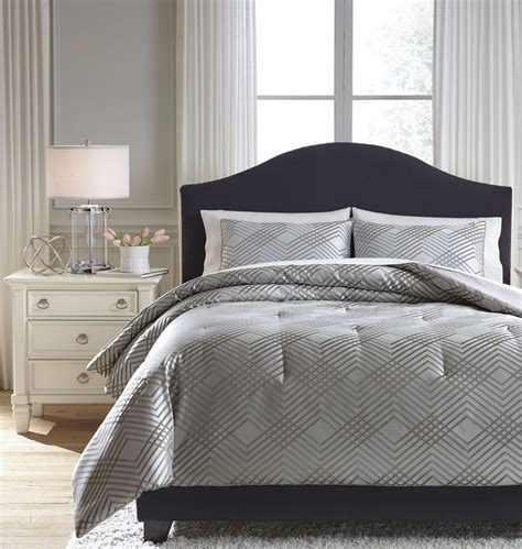 anjelita pewter queen comforter set from ashley coleman