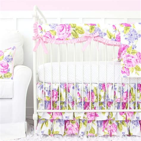 girly crib bedding a perfectly girly floral baby bedding that would be great