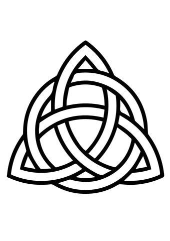 Trisquel Celta con Círculo Dibujo para colorear | 4