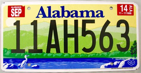 Alabama Vanity Plates by 2014 Alabama License Plate 11ah563