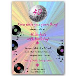 groovy disco birthday invitations paperstyle