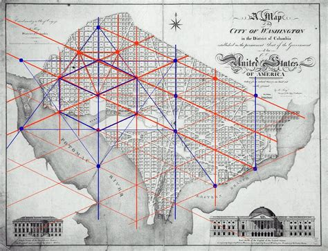washington dc map masonic masonic and kabbalistic symbols in the washington d c map