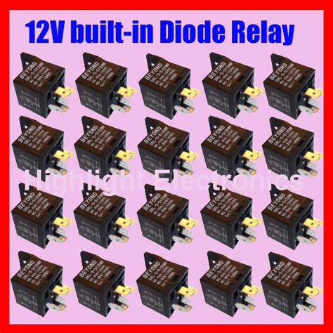 automotive relay with diode highlight electronics auto relay 12v30adc with built in diode 5pins 20pcs hq