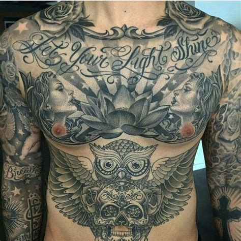 guy stomach tattoos let your light shine eddie s board lights
