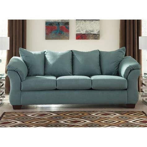 darcy sofa ashley ashley darcy fabric sofa in sky 7500638
