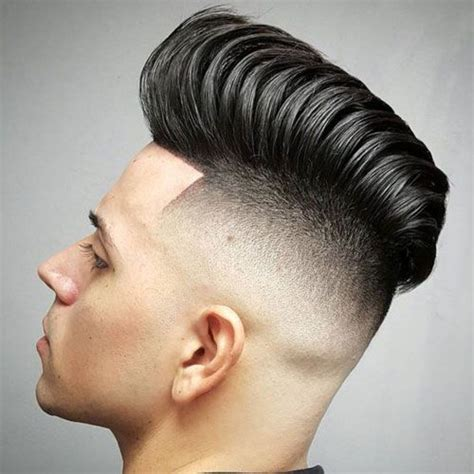view from back of pompadour hair style 25 best ideas about skin fade pompadour on pinterest