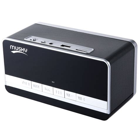 Speaker Mini Hifi musky dy 27 hifi speaker mini bluetooth dual speaker fm